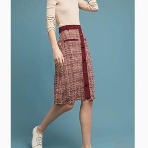 ANTHROPOLOGIE Harlyn Tweed Buttoned Skirt Size XS